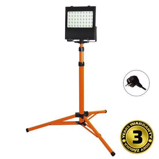 Solight LED vonkajší reflektor s vysokým stojanom, 50W, 4250lm, kábel so zástrčkou, AC 230V
