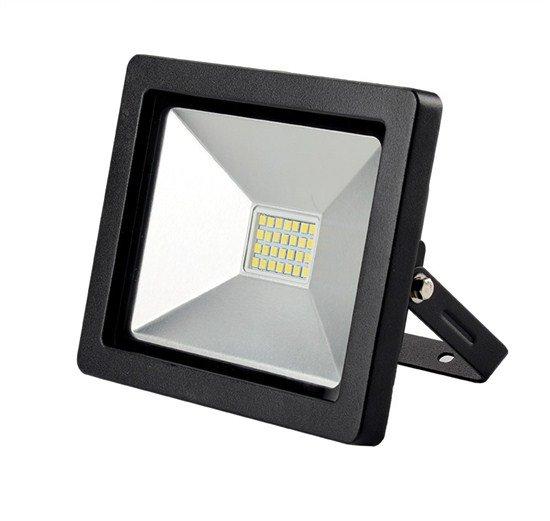 Solight LED vonkajší reflektor SLIM, 30W, 2100lm, 3000K, čierny