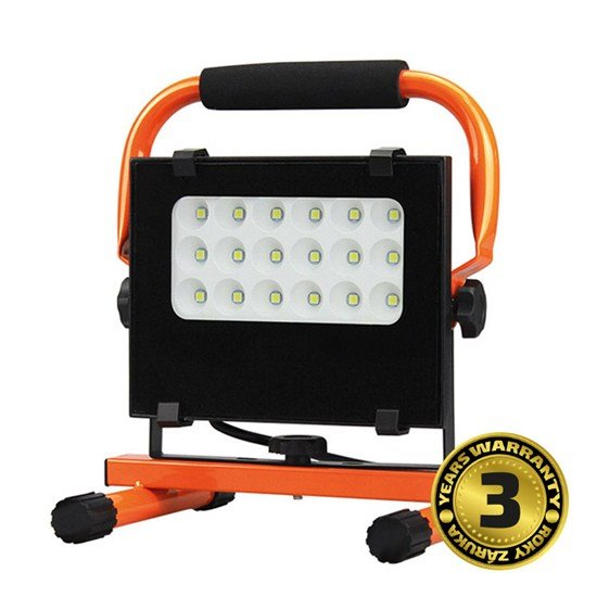 Solight LED vonkajší reflektor so stojanom, 20W, 1700lm, 5000K, kábel so zástrčkou, AC 230V