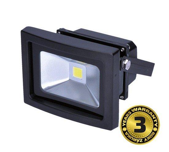 Solight LED vonkajší reflektor, 10W, 800lm, AC 230V, čierna