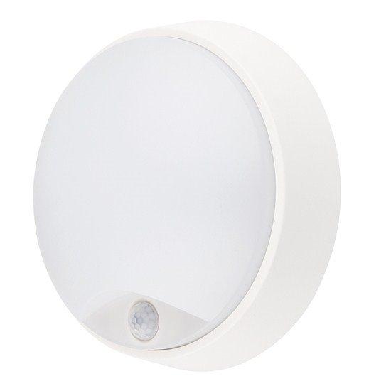Solight LED vonkajšie osvetlenie s pohybovým senzorom, IP54,14W, 1000lm, 4000K, 22cm