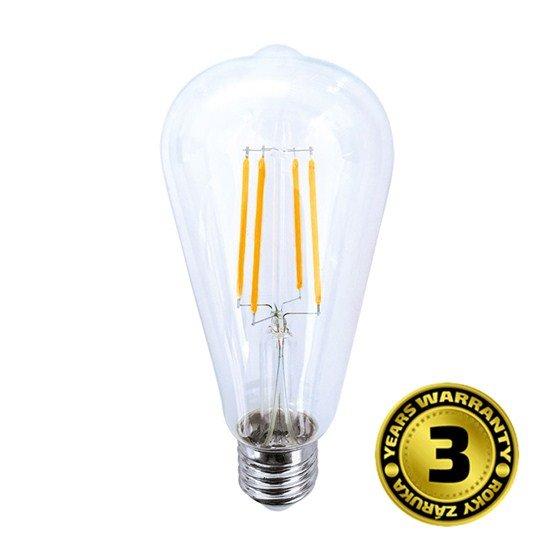 Solight LED žiarovka retro, klasický tvar, 8W, E27, 3000K, 360°, 750lm