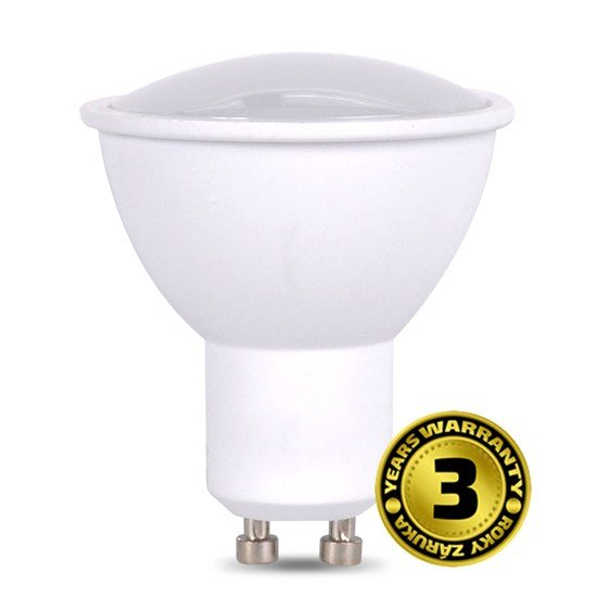 Solight LED žiarovka, bodová , 7W, GU10, 3000K, 500lm, biela