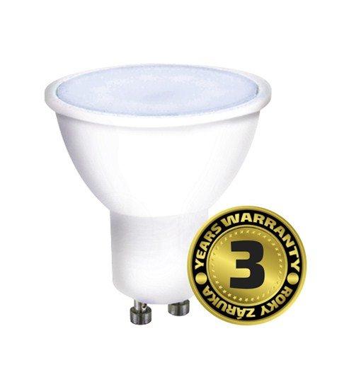 Solight LED žiarovka, bodová , 7W, GU10, 6000K, 500lm, strieborná