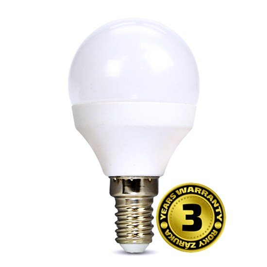 Solight LED žiarovka, miniglobe, 4W, E14, 3000K, 310lm, biele prevedenie