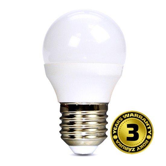 Solight LED žiarovka, miniglobe, 6W, E27, 6000K, 450lm
