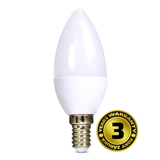 Solight LED žiarovka, sviečka, 6W, E14, 6000K, 450lm