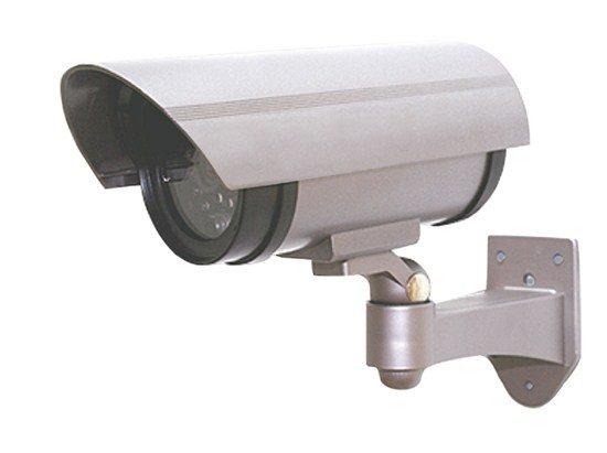 Solight maketa bezpečnostnej kamery, na stenu, LED dióda, 2 x AA