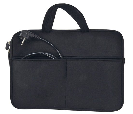 Solight neoprénové puzdro na notebook 13' - 14', 2 tašky, držadlá, čierna