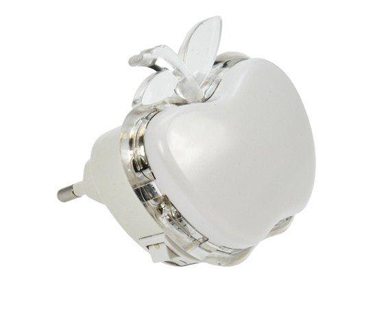 Solight nočné LED svetielko jablko, 0,5W, RGB, 230V, vypínač