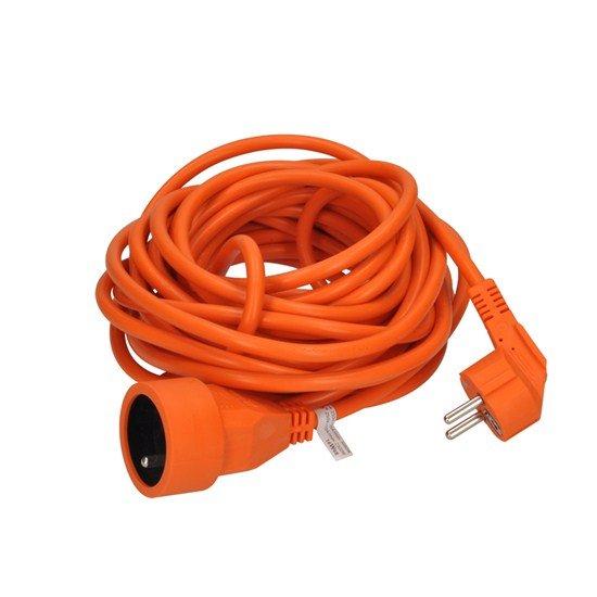 Solight predlžovací kábel - spojka, 1 zásuvka, oranžová, 10m