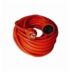 Solight predlžovací kábel - spojka, 1 zásuvka, oranžová, 40m
