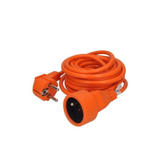 Solight predlžovací kábel - spojka, 1 zásuvka, oranžová, 5m