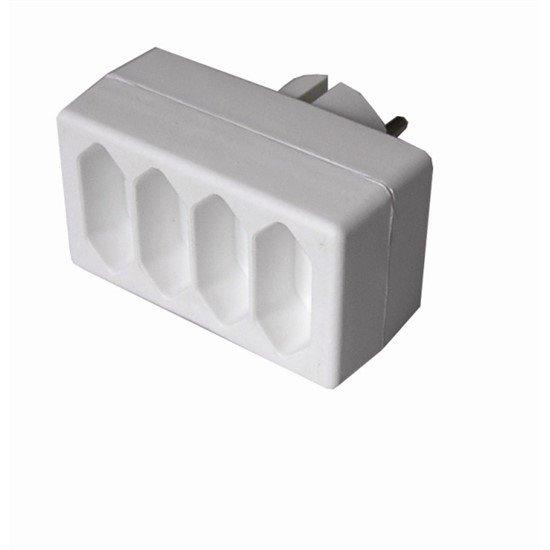 Solight rozbočka, 4x 2,5A, biela