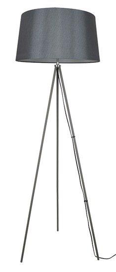 Solight stojaca lampa Milano Tripod, trojnožka, 145 cm, E27, šedá