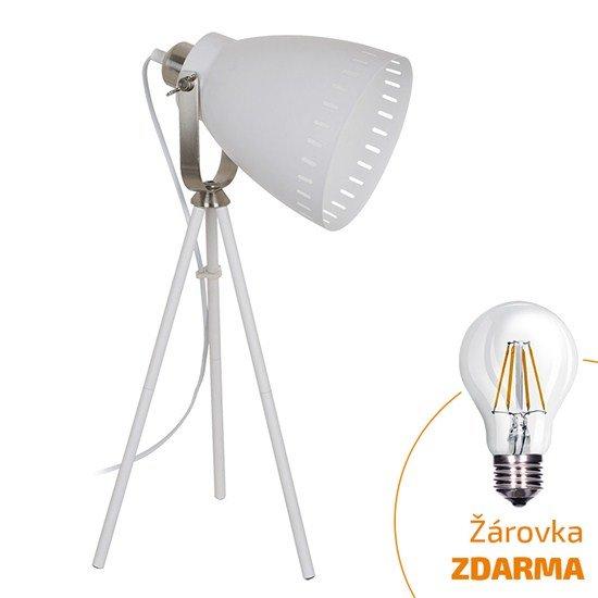 Solight stolná lampa Torino, trojnožka, 52cm, E27, biela
