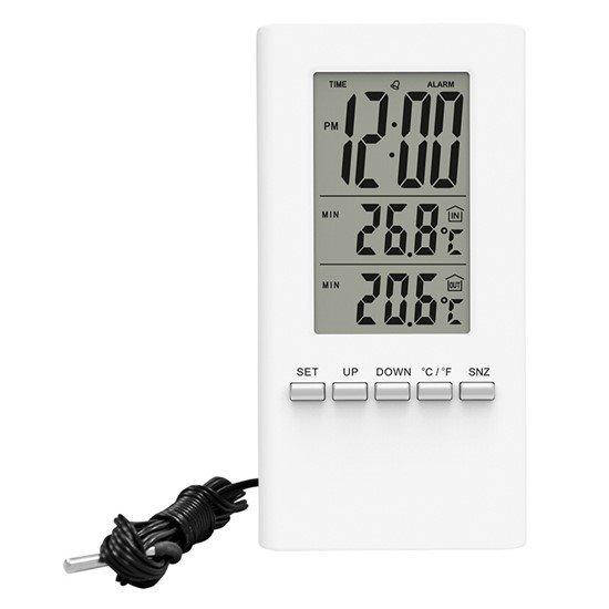 Solight teplomer, teplota, veľký displej, dátum, čas, biely