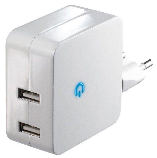 Solight USB nabíjací adaptér 2 x 2400mA, biely