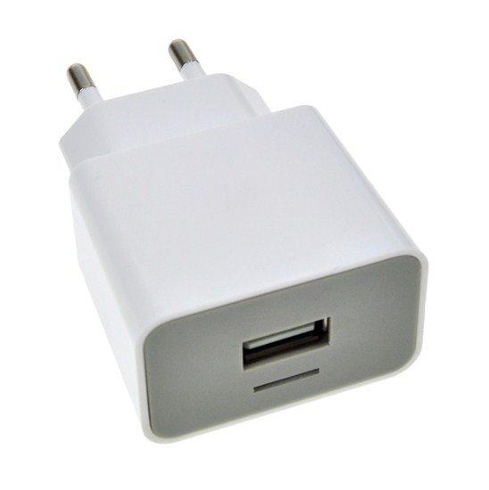 Solight USB nabíjací adaptér, 1x USB, 1500mA, AC 230V, bielosivý