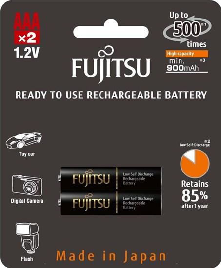 Fujitsu prednabité batérie Black R03/AAA, blister 2ks