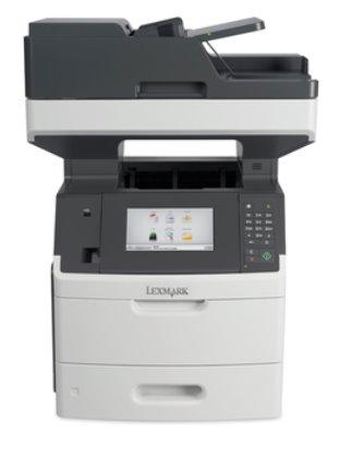Lexmark MX718de, mono laser MFP, 1200dpi, 66ppm, 512MB, 800MHz, USB, Duplex,GLan, Fax