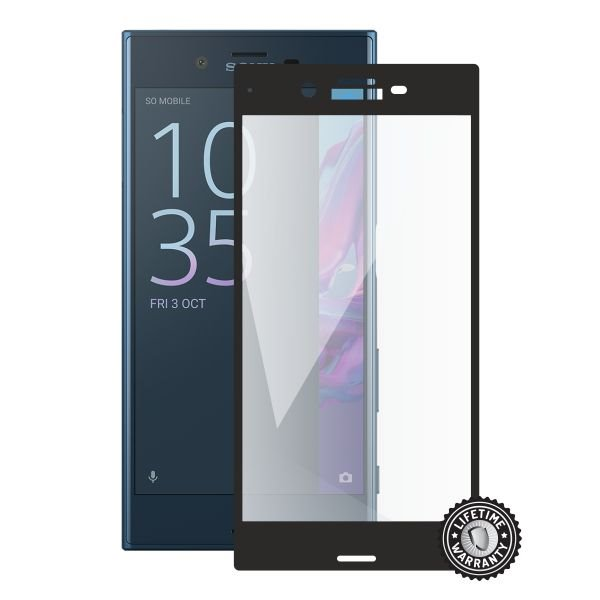 Screenshield SONY Xperia XZ F8331 Tempered Glass protection (full COVER black) - Film for display protection