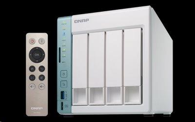 QNAP™ TS-451A-2G 4 Bay NAS, Intel® Celeron® N3060 dual-core 1.6GHz 2GB DDR3L (2 x 1GB)