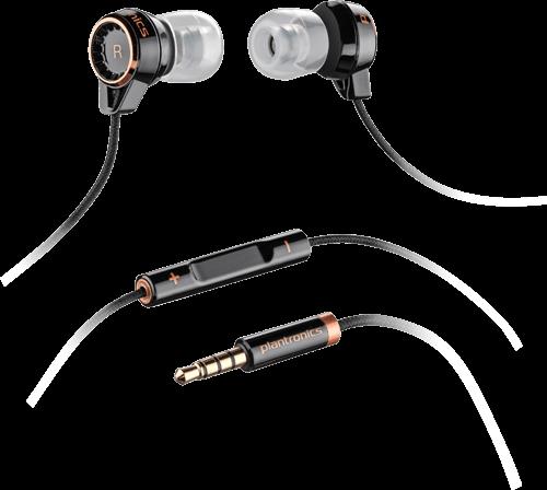 Plantronics BACKBEAT 216, slúchadlá do uší, mikrofón, ovládanie, čierne