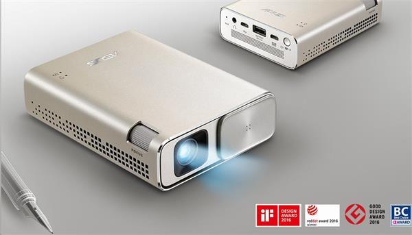 ASUS ZenBeam GO E1Z prenosný projektor, WVGA 854x480, 150 lumen, 800:1, 30000hod, 6400mAh batéria, microUSB
