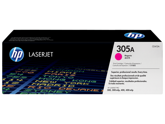 HP toner purpurový HP305A /vyťaženosť cca 2600str/-rozbaleny