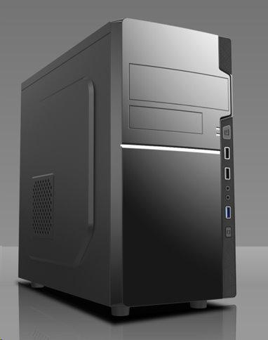 Eurocase MC 278, skrinka mATX, bez zdroja, 2xUSB2.0, 1xUSB3.0, čierna