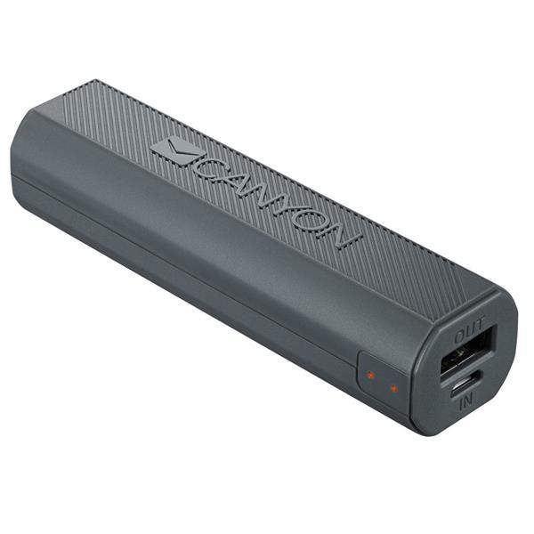 Canyon CNE-CPBF26DG Powerbank 2600mAh, výstup USB 5V/max 2,4A, pre smartfóny, tmavo šedá