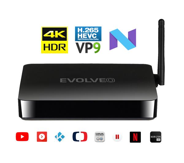EVOLVEO MULTIMEDIA BOX M4 Quad Core multimediálne centrum UHD 4K HDR