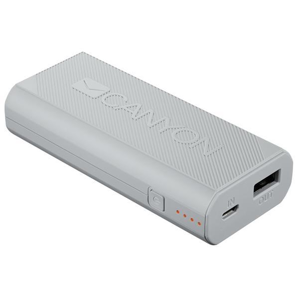 Canyon CNE-CPBF44W Powerbank 4.400 mAh, výstup USB 5V/max 2,4A, pre smartfóny, biela