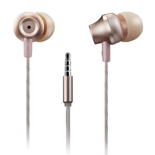 Canyon CNS-CEP3RO štýlové slúchadlá do uší, pre smartfóny, integrovaný mikrofón a ovládanie, ružovo zlaté