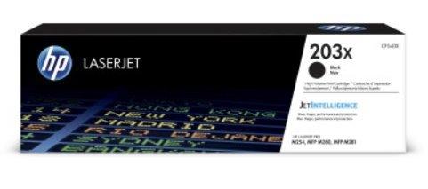 CF540X Originálna čierna tonerová kazeta HP 203X LaserJet s vysokou výťažnosťou