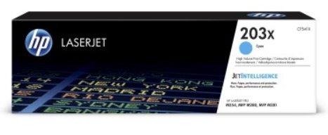 CF541X Originálna azúrová tonerová kazeta HP 203X LaserJet s vysokou výťažnosťou