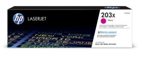 CF543X Originálna purpurová tonerová kazeta HP 203X LaserJet s vysokou výťažnosťou