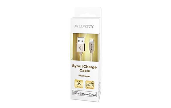 A-DATA Apple Lightning kábel, hliníkový zlatý
