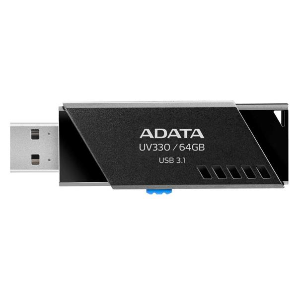 64 GB . USB kľúč . ADATA DashDrive™ Value UV330 USB 3.1, Black/Blue