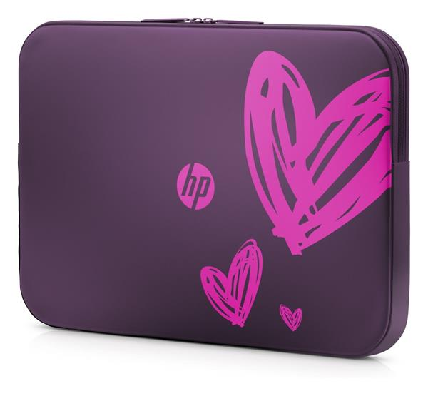 HP 15.6 Hearts (purple) Valentine Sleeve