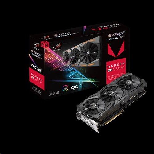 ASUS ROG-STRIX-RXVEGA64-O8G-GAMING 8GB/2048-bit, HBM2, DVI, 2xHDMI, 2xDP