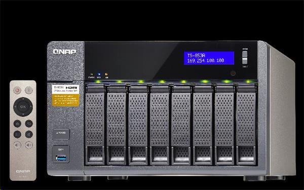 QNAP™ TS-853BU-RP-8G 8 Bay NAS, Intel Celeron QC J3455 2x4GB redundant PSU