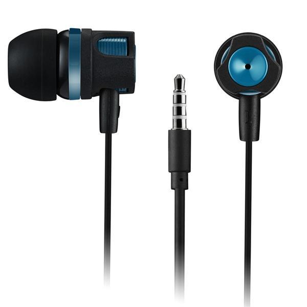 Canyon CNE-CEP3G pohodlné slúchadlá do uší, pre smartfóny, integrovaný mikrofón a ovládanie, čierno-modro/zelené