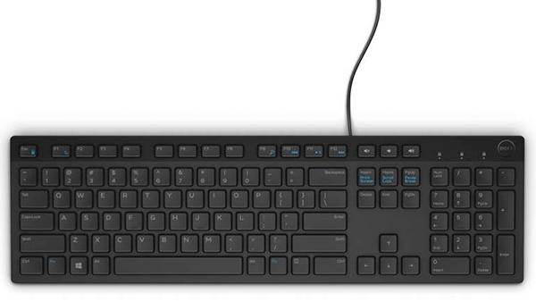 Dell Multimedia Keyboard-KB216 -Russian (QWERTY) - Black (RTLBOX)