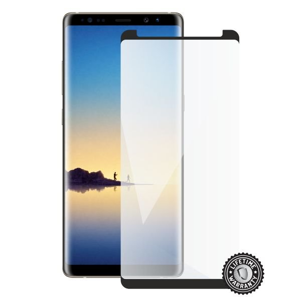 Screenshield SAMSUNG N950 Galaxy Note 8 Tempered Glass protection (full COVER black - CASE FRIENDLY) - Film for display