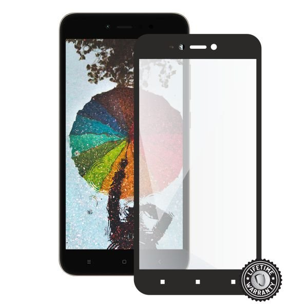 Screenshield XIAOMI RedMi Note 5A Global Tempered Glass protection (full COVER black) - Film for display protection