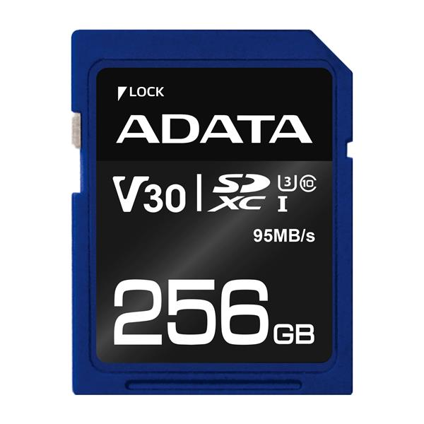256 GB . SDXC Premier Pro UHS-I U3 karta A-DATA class 3/10 Ultra High Speed