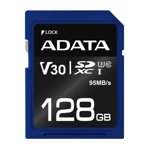 128 GB . SDXC Premier Pro UHS-I U3 karta A-DATA class 3/10 Ultra High Speed