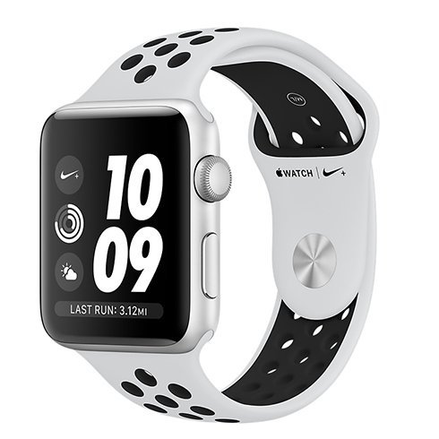 Apple Watch Nike+ GPS, Series 3, 42mm Silver Aluminium Case with Pure Platinum/Black Nike Sport Band